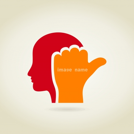 Hand in a head. A vector illustration Stock Vector - 22710780