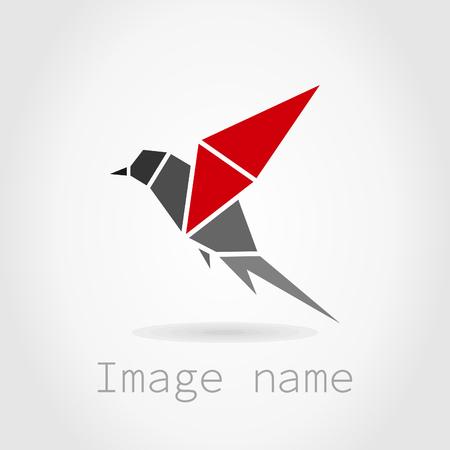 parrot flying: Bird in flight on a grey . A vector illustration