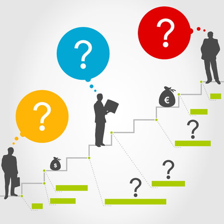 successes: Business a ladder of successes. A vector illustration