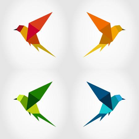twitter: Bird in flight on a grey background. A vector illustration