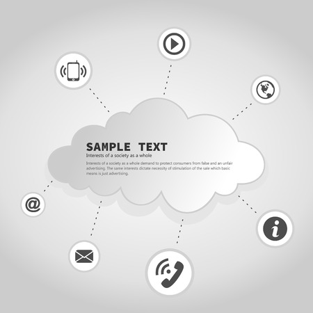 Cloudy communication between people. A vector illustration Stock Vector - 23399686