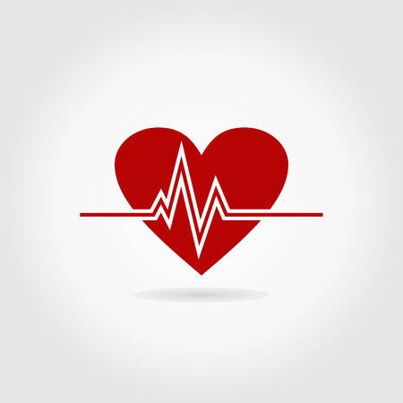 Le cardiogramme d'un rythme du c?ur. Une illustration vectorielle