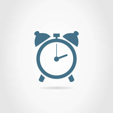 readout: Alarm clock on a grey background. A vector illustration