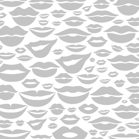 Background made of lips. A vector illustration