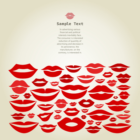 stoned: Frame from lips. A vector illustration