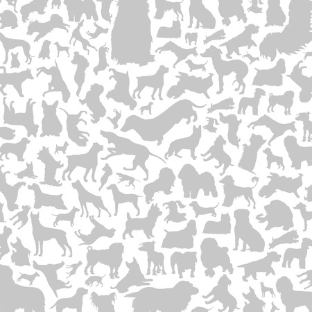 sheepdog: Background made of dogs. A vector illustration