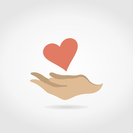 Hands hold heart. A vector illustration Vector