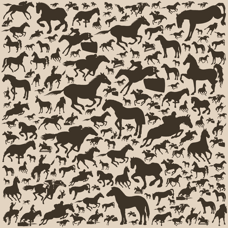 Background made of horses. A vector illustration Vector