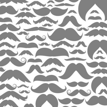 Background made of moustaches. A vector illustration Illustration