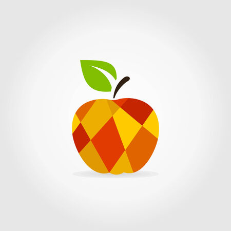 ripened: Abstract apple on a white background. A vector illustration