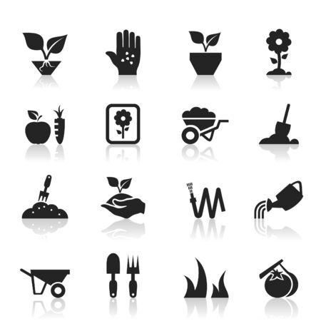 fertilizer: Set of icons a garden. A vector illustration