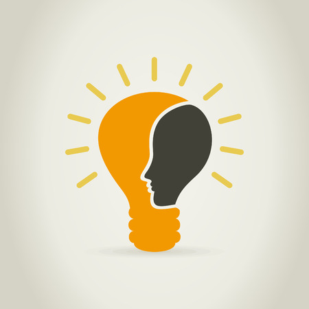 Head of the person in a bulb. A vector illustration Stock Vector - 24499247