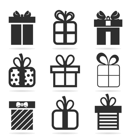 Set of icons a gift. A vector illustration Vector