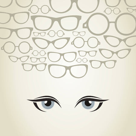 Glasses for eyes of the person. A vector illustration Vector