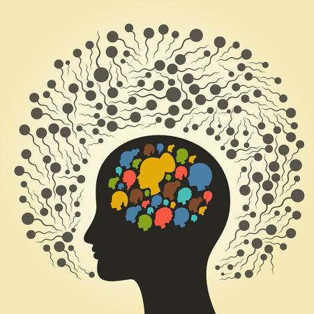 spermatozoon: Spermatozoon round a head. A vector illustration Illustration