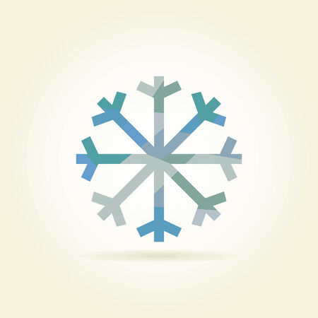 rags: Snowflake on a grey background. A vector illustration