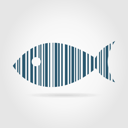 Fish from a code stroke. A illustration Vector