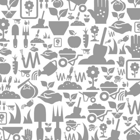 fertilizer: Design layout made of a garden. A illustration