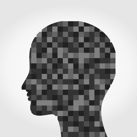 Head made of a mosaic. A illustration Stock Vector - 25190608