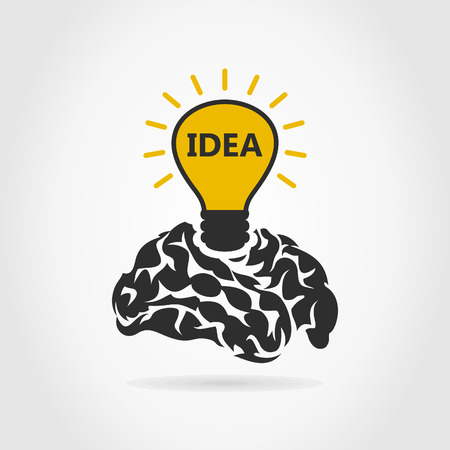 Idea from a brain. A illustration Stock Vector - 25190704