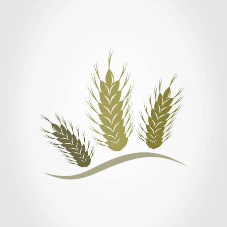 bundle: Three ears of wheat. A illustration