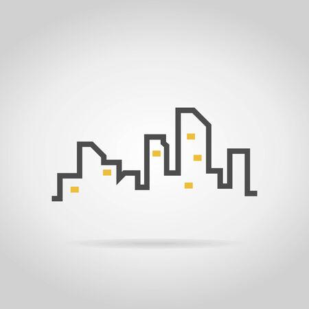 Modern city on a grey Design layout . A illustration