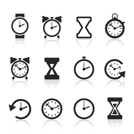 readout: Set of icons hours. A illustration