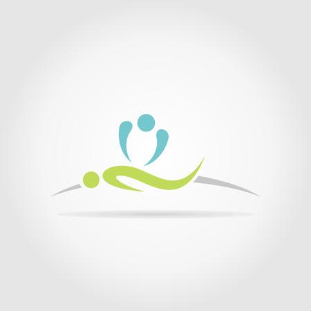 La personne fait massage. Une illustration