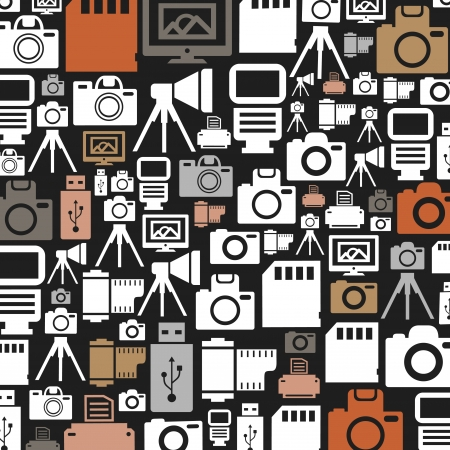photography themes: Design layout made of a photo. A illustration
