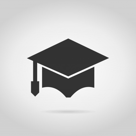 School cap on a grey. A illustration Stock Vector - 25200394