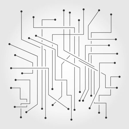 The electronic scheme. A vector illustration
