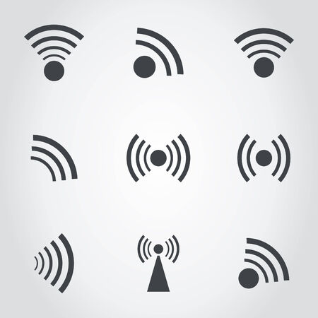 repeater: Set of icons a signal. A vector illustration