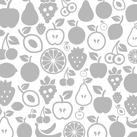 Background made of fruit. A vector illustration Vector