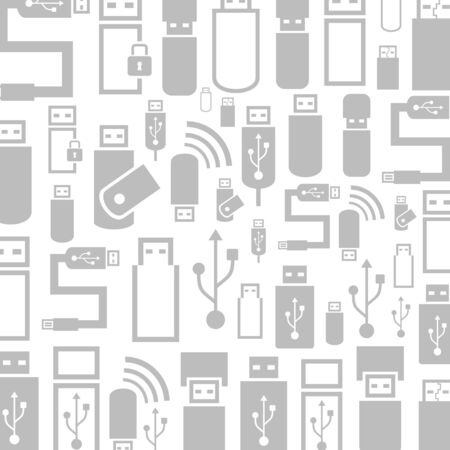 Background made from usb. A vector illustration Vector
