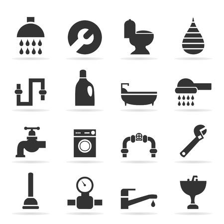 sanitary: Set of icons sanitary technicians. A vector illustration