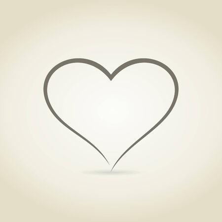 Coeur dans la forme de l'esquisse. Une illustration vectorielle