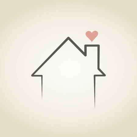 Heart from a house pipe. A vector illustration Vector