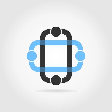 voluptuous: Design an element for web design. A vector illustration