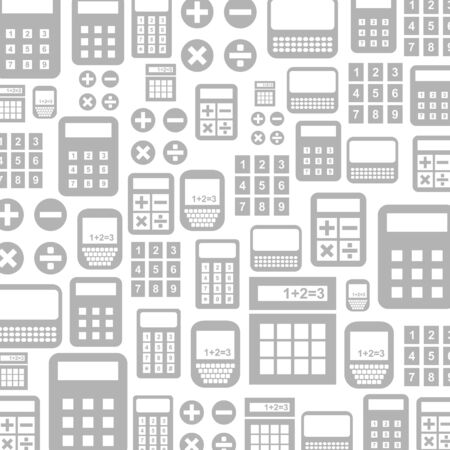 maths department: Background made of the calculator. A vector illustration Illustration
