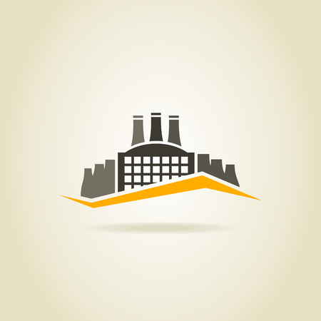 metallurgy: Factory building in the industry Illustration