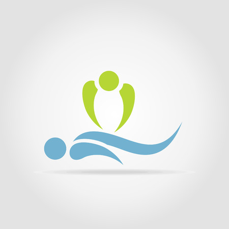 Le masseur ne massage spa à la procédure Banque d'images - 28244902
