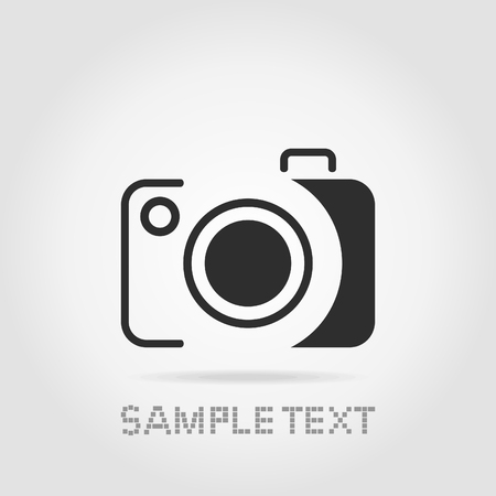 kammare: Photo the chamber for the photographer on a grey background Illustration