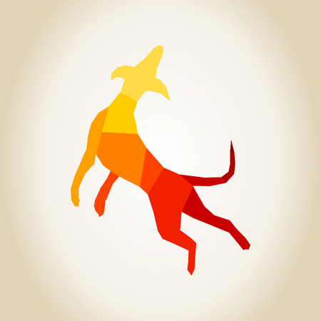 Dog in a jump. A vector illustration Illustration