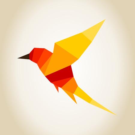 Abstraction a bird in flight. A vector illustration Vector