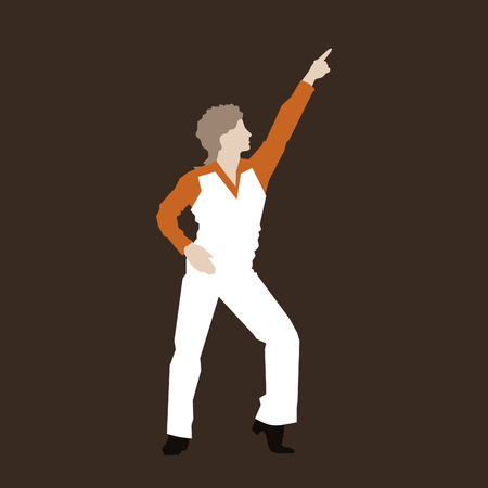 disco symbol: Retro the dancer of a disco. A vector illustration