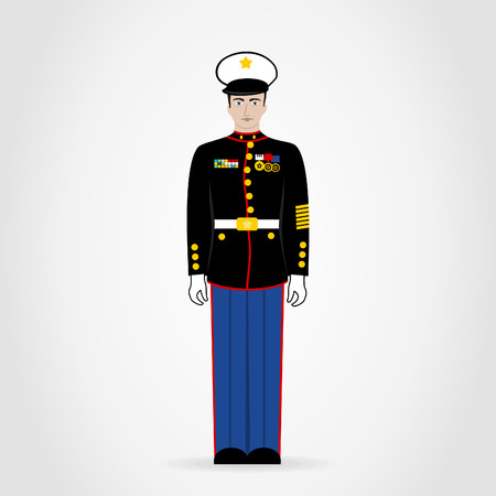 american soldier: The American soldier in medals. A vector illustration Illustration