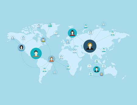 global talks of people on planet earth Illustration