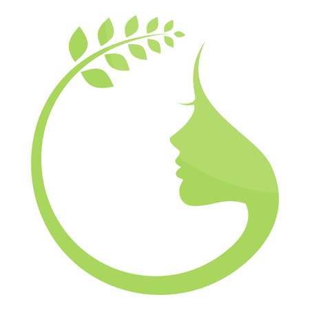 The round natural woman. A vector illustration Vector