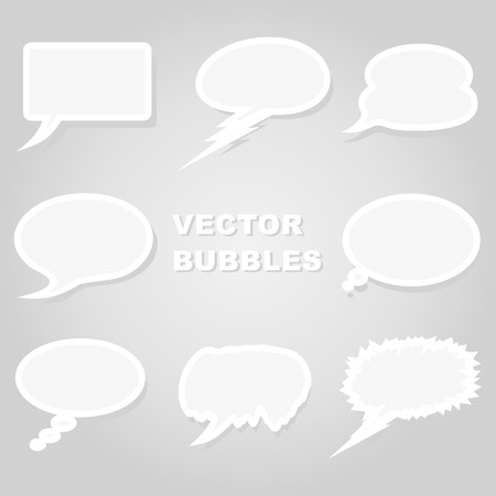 thinking balloon: Set of icons of clouds for conversation.