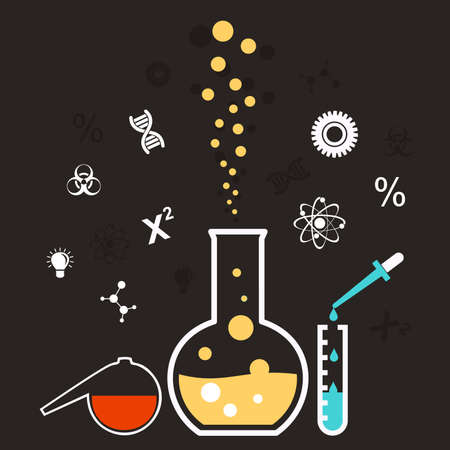 reaction: the chemical reaction set bulb Illustration